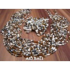 sets necklaces bracelet multiple seeds glass bead stretches butterfly