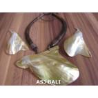 wooden choker necklaces organic seashells sets earrings