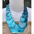 bali capiz shells necklaces mono color turquoise