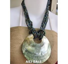 necklaces beads abalone multi seeds pendant seashells
