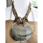 necklaces beads multi seeds gold pendant seashells