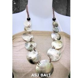organic seashells balinese necklaces design