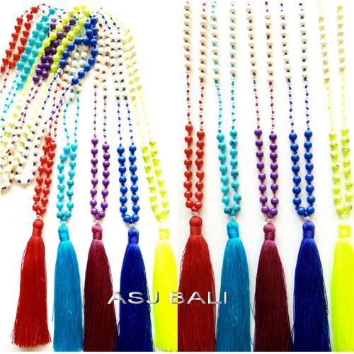 5color different tassels beads stone new design long seeds