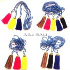 5color new design tassels necklaces bead stone bronze caps bali