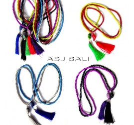 all colors fashion beads necklaces tassels budha caps new design