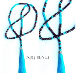 balinese design tassels necklaces pendant women design turquoise