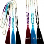 beads stone tassels necklace new fashion accessories