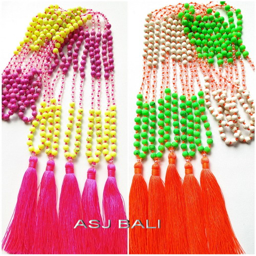 beads stone tassels two color combinations great style