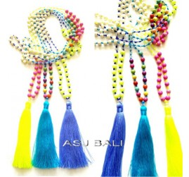 beads stones necklaces tassels balinese designer new style