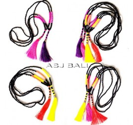 fashion necklaces tassels all color handmade new design