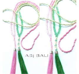hijab necklaces tassels bead pendant for moeslim women design