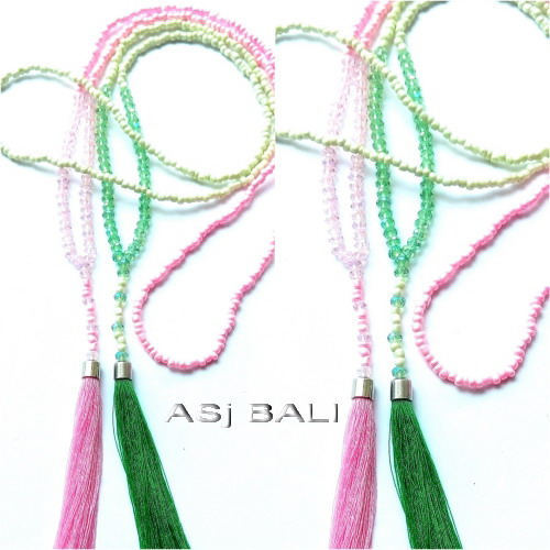hijab necklaces tassels bead pendant for moeslim women design