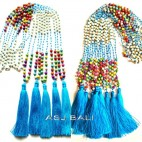mix stone beads tassels necklaces long seeds turquoise pendant
