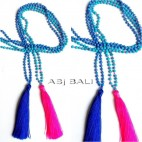 necklaces tassels pendant long seeds  beads stone 2colors