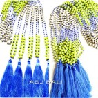 new design necklaces stone beads pendant tassels bali