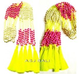 new design tassels beads stone combination long necklaces pendant