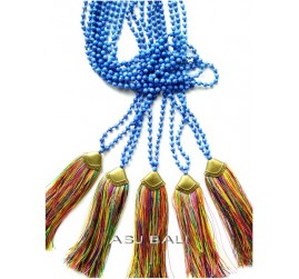 new model tassels mix color necklaces bead stone bronze caps