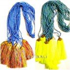 new tassels necklaces bead stone bronze caps yellow mix