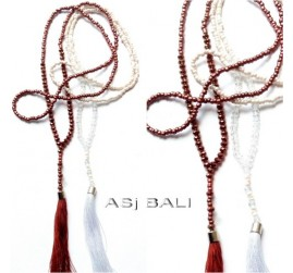 simply beads tassels pendant necklaces jilbab fashion design