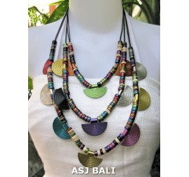 coconut wooden beads mix color charms necklaces