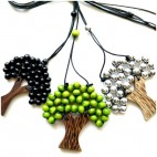organic coco wood necklaces palm pendant handmade
