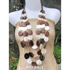 wooden with shells necklaces chandelier design multi strand
