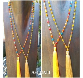 2color full beads stone agate necklace fashion women accessories 2color