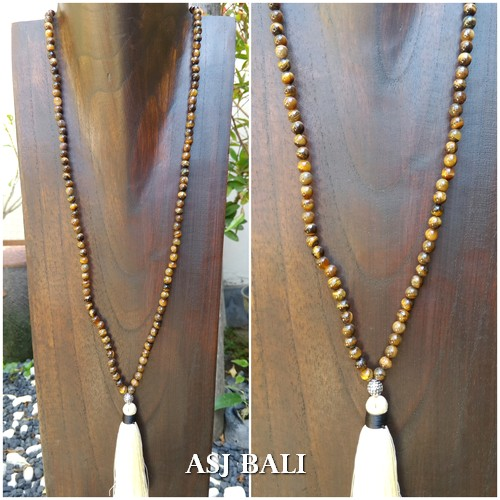 agate full beads stone natural color tassels necklace fashion accessories