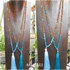 glass beads rudraksha tassels necklace pendant women fashion
