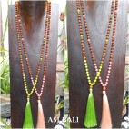 glass beads rudraksha tassels necklace pendant women fashion 2color
