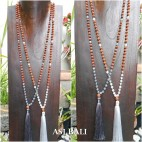 glass beads rudraksha tassels necklace pendant women fashion accessories