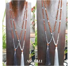 glass beads rudraksha tassels necklace pendant women fashion accessories