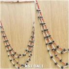 2color seeds beads necklaces fashion mix design casandra