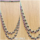 2color strand beads necklaces women fashion mix