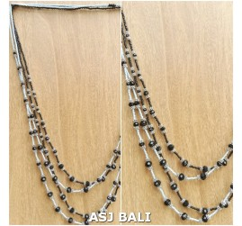 2color strand necklaces beaded fashion accessories design