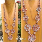 full beaded necklaces circle mate ornament women fashion mix color