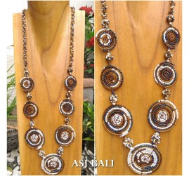 full beads fashion necklaces circle mate ornament women accessories