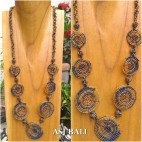 full beads necklaces circle 7mate ornament fashion accessories bali