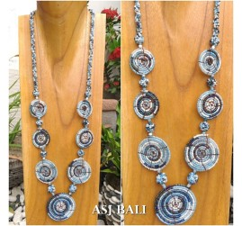 full beads necklaces circle 7mate ornament accessories bluesky color