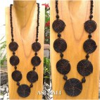 full beads necklaces circle mate ornament fashion accessories black color