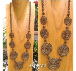 full beads necklaces circle mate ornament fashion gold color accessories