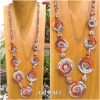 full beads necklaces circle plate ornament fashion accessories rainbow color