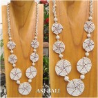 full beads necklaces circle plate ornament fashion accessories white color