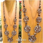 full beads necklaces circle plate ornament fashion gold mix color