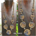 full beads necklaces circle mate ornament 2color fashion golden shine