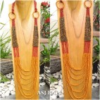 long strand full beads necklaces bali design triple color fashion