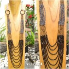 long strand full beads necklaces casandra design 3color fashion
