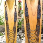 long strand full beads necklaces casandra design women fashion