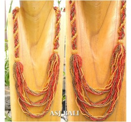 multiple strand full beads necklaces fashion women accessories design