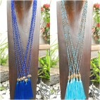 2color and style tassels pendant necklace budha head elephant bronze
